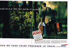 PUBLICITE ADVERTISING 104  1994   SNCF  les trains tarif KIWI  ( 2p)