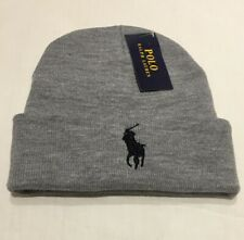 744e5b33 Adults One Size Ralph Lauren Polo beanie hats (grey & black pony)70%