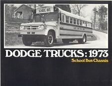 1973 Dodge School Bus Chassis Brochure S600/B300