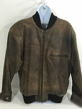 Vintage Clockhouse Biker-style pure raw leather jacket