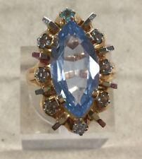 Stunning Rare Vinatge Estate Aquamarine Stone Ring Sz 6 1/2 VV4