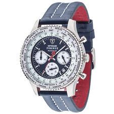 DETOMASO Firenze Racing Blue Herrenuhr Chronograph Edelstahl Blau Lederband Neu