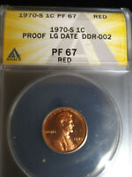 1970 S ANACS PR67RD Doubled Die CONECA DDR-2 Lincoln Cent Scarce and new holder