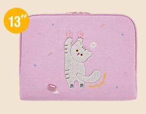 "Cute Cat Laptop Notebook Sleeve Case Bag Pouch 13"" Mac Book LG Samsung"