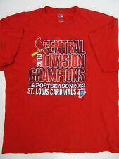 St Louis Cardinals 2013 Central Division Champions T-Shirt Size XL