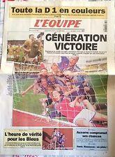 L'Equipe Journal 27/7/2000; Les juniors Français champion de rugby, foot, basket