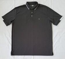 Mens XL Grey White Callaway Opti-Dri Golf Short Sleeves Polo Shirt preowned