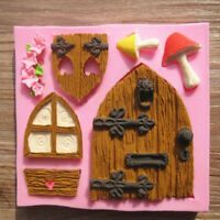 Fondant Tool House Chocolate Mould Silicone Cake Mold 3D Mold Fairy House Door