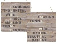 Husband Gift Wife Gifts 5th Wooden Anniversary Meaning Plaque Wedding MDF Signs