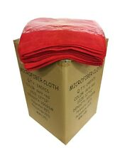 240 Microfiber Dark Red 12x12 Cleaning Detailing Cloth Towel Auto Car Rag 300GSM
