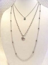 LUCKY BRAND NECKLACE LUCKY LAYERS, 3 STRANDS, SUN & MOON, TURQ & MARCASITE, NWT