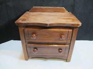Vintage Handmade Small Wood Dresser or Table Dresser Top Quality Made Barn Find