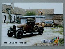 CITROËN B 14 1927 téléthon 1999 Carte de Voeux CP Automobile ancêtre Tacot