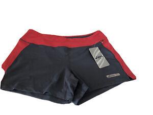 Asics Women's Knit Athletic Shorts Size S.Zipper Side Pocket .Retail $42...P3