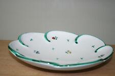 Obstschale, Wellenschale 27 cm Gmundner Keramik Streublumen