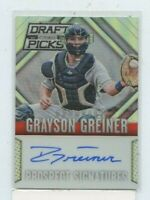 GRAYSON GREINER 2014 Panini Prizm Perennial Draft Picks Silver Auto Autograph