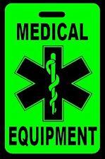 Hi-Viz Green Medical Equipment Carry-On Bag Tag - CPAP BiPAP APNEA POC