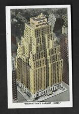 Postcard New York City Hotel New Yorker 2500 Rooms With Radio, Tub, Shower *517