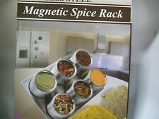 New listing Spice Rack, 6-pc. Stainless Steel Magnetic Spice Rack by Home Marketplace