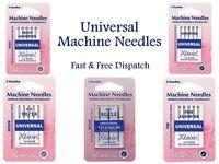 Hemline Klasse Universal Sewing Machine Needles Medium Fine Heavy mm All Sizes