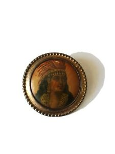 Original Beautiful Indian Whitehead & Hoag Co.Pinback Newark,N.J.