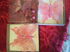 Clip On Butterflies & Birds Pink