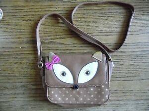 Cute Fox and Glitter Kids Handbag
