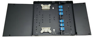24 Fiber Dual Door Wall Mount w 12 SC/UPC Duplex Adapters, Patch Only Singlemode