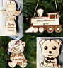 Wooden First Christmas personalised child bauble decoration tree ornament