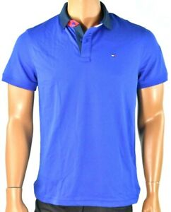 Tommy Hilfiger Mens Polo Shirt New M Performance Solid Blue Quick Dry Wicking