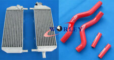 Aluminum radiator + Red hose for SUZUKI RM250 2001-2008 01 02 03 04 05 06 07 08