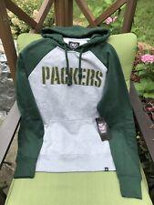 Green Bay Packers NFL 47 Brand Grey Sweatshirt Pullover Hoodie Size Medium NWT