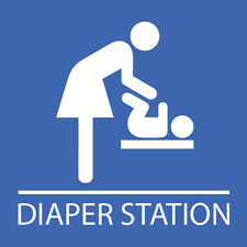 "Diaper Changing Station Sign 8"" x 8"""