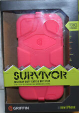 GRIFFIN SURVIVOR MILITARY-DUTY CASE + BELT CLIP FOR IPHONE 5 - GB35689  Hot PINK