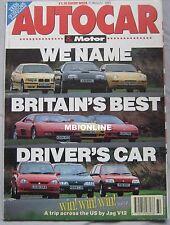Autocar 11/8/1993 featuring Mini, Rover, Honda, Ferrari, Chaterham, Lotus, BMW