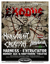 EXODUS /  MALEVOLENT CREATION 2010 CONCERT TOUR POSTER