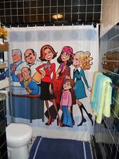 Glen Hanson Mary Tyler Moore Newsroom Shower Curtain Rhoda Phyllis