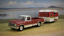 1968 68 Chevy C-10 Truck + Catolac DeVille Family Camper 1/64 collectible model