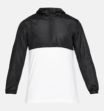 NWT Mens Under Armour UA Wind Anorak Jacket Pullover Black/White XXL MSRP $60
