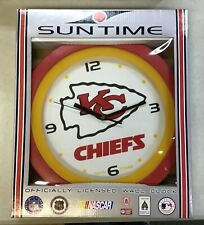 New in Package! Kansas City Chiefs Wall Clock Sun Time