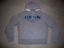 Mens NWOT RUEHL No. 925 Hoodie S HEATHER GRAY w/NEW YORK District Logo