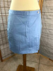 Women's Brooks Brothers Country Club Light Blue Cotton Flat Front Shorts Size 12