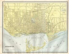1904 Antique TORONTO Map of Toronto Canada Collectible City Map 4813