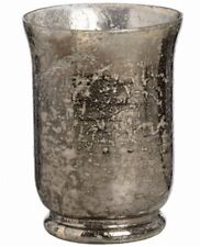 Large Vintage Antique Silver Mercury Glass Candle Holder