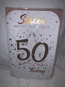 sister 50th birthday card / 50th Birthday Card For Sister