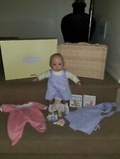 Bitty Baby Doll Wicker Suitcase Retired 2003 American Girl-Pleasant company Lot