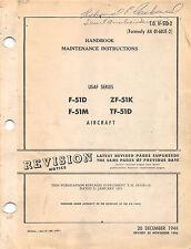 F-51D Tf-51D Maintenance Instructions Pilot's handbook Flight Manual - Cd
