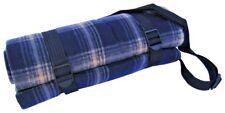 Picnic Rug Blanket Acrylic Fleece PVC Waterproof Back 150x130cm + shoulder strap