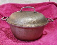 Silver Seal Hammered Aluminum Pot Pan With Lid 3 quart 8