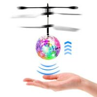 Flash Flying Ball Infrared Induction Colorful LED Disco RC Helicopter Toy